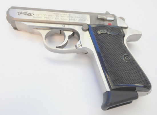 S&W WALTHER PPK/S .380 ACP STAINLESS PISTOL UNFIRED w/CASE, MANUAL, & 2 SS MAGS