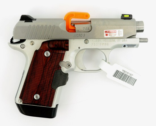 KIMBER MICRO 9 STAINLESS 9MM PISTOL NEW IN BOX  w/CRIMSON TRACE LASER