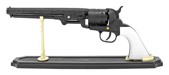 METAL WESTERN SIX SHOOTER PISTOL REPLICA NEW IN BOX - BLACK