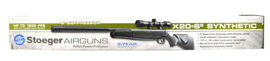 STOEGER X20 S2 PELLET AIR RIFLE .177/4.5mm w/STOEGER 4X32 SCOPE NEW IN BOX
