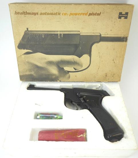 VINTAGE HEALTHWAYS PLAINSMAN 9401 CO2 BB PISTOL w/BOX CIRCA 1970'S