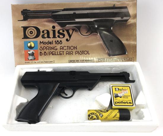 DAISY MODEL 188 SPRING BB/PELLET PISTOL w/BOX