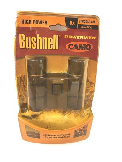 BUSHNELL POWERVIEW 8X CAMO BINOCULARS NEW IN PKG.