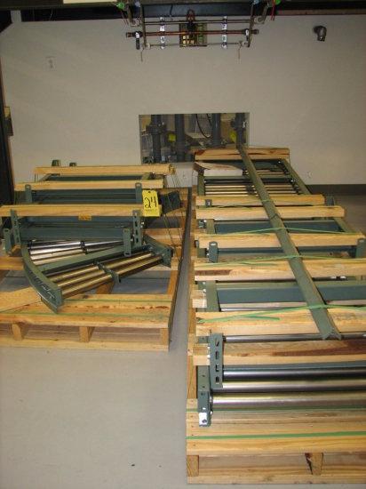 "Hytrol Roller Conveyor, (2) 10' x 28"" Straights, (1) 5' x 28"" Straight (25"""