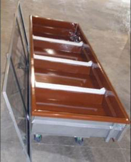 """137"""" L x 48"""" W x 44"""" H Large Industrial Heavy Duty Cart - Features Two Fixe"""
