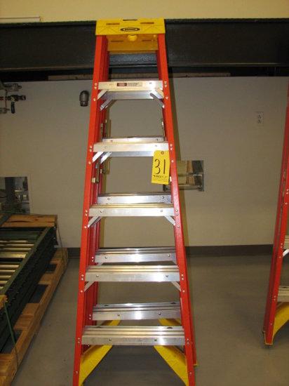 Werner Dbl Side Step Ladders, 6'