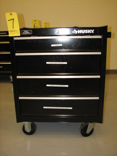 "Husky Rolling Tool Box, 34"" H x 27"" W x 18"" D, 4 Drawer"