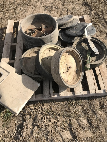 Pallet of Kinze Planter Parts