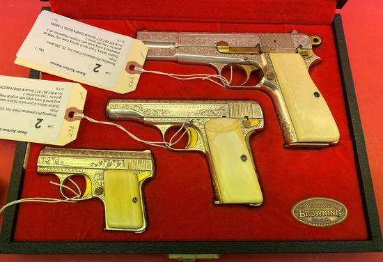 Browning Renaissance Pistol Set .25,.380,9mm Pisto