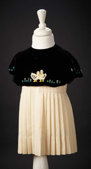 """The Costume with Velvet Duck Bolero Worn by Shirley Temple in the 1935 Film """"Curly Top"""" $2500+"""