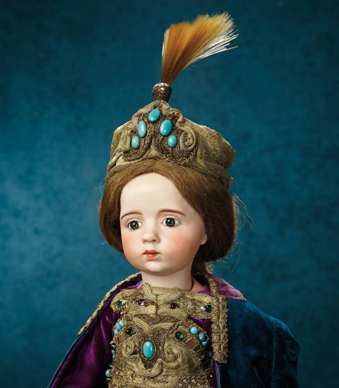Outstanding French Bisque Art Character Doll by Albert Marque, #7 from the Series  180,000/220,000