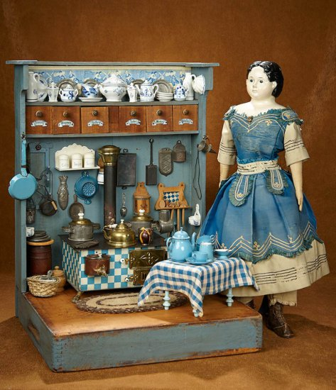 Wooden Toys Catalog : Th century wooden toy kitche auctions online proxibid