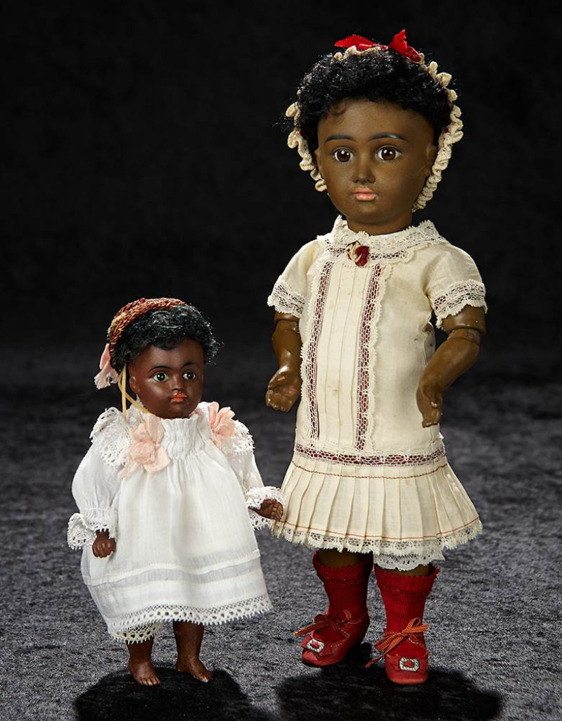 German Brown-Complexioned All-Bisque Doll wit Bare Feet by Kestner 900/1400