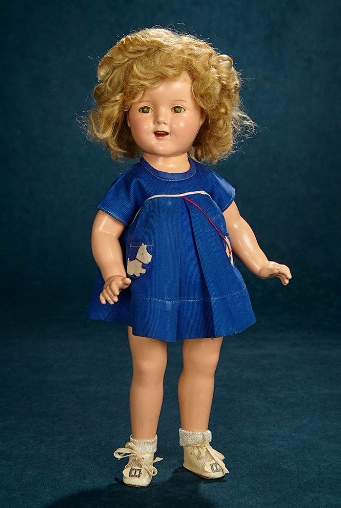 c8d6f18e35c9 Composition Shirley Temple, Ideal, Scottie Dress from