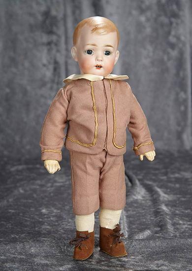"""12"""" German bisque character, 2096, """"Tommy Tucker"""" from Bruno Schmidt. $600/900"""