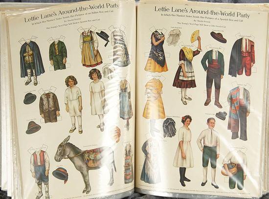 Large album with Seventy-Four uncut original Lettie Lane and Betty Bonnet Paper Dolls. $400/600