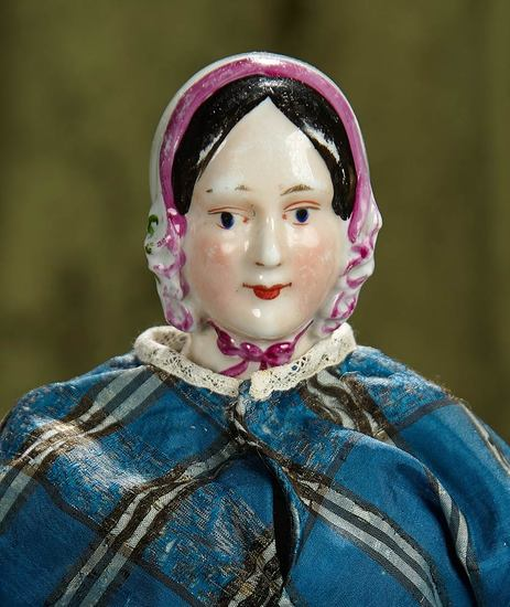 "15"" Very Rare German Porcelain Bonnet Lady by with Maker's Mark by K.P.M. $1200/1600"