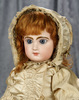 "20"" French bisque closed mouth bebe by Emile Jumeau with Signed Body. $2600/3200"
