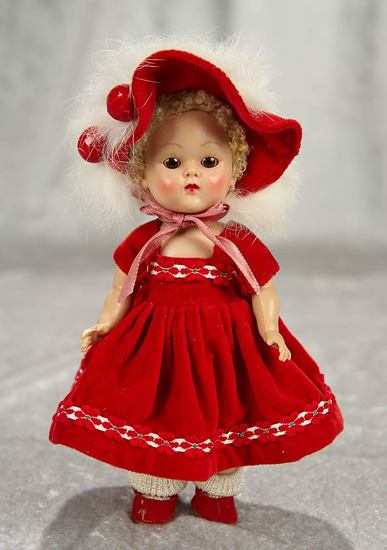 "8"" Painted lash Ginny in red velvet costume. $200/300"