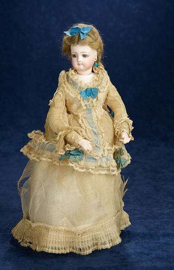 Petite All-Original French Bisque Poupee with Gesland Deposed Body 4500/6500