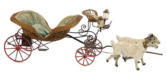 Outstanding French Mechanical Double-Goat Cabriolet from the Napoleon III Era 4500/5500