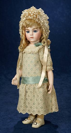 Very Beautiful French Bisque Bebe by Leon Casimir Bru with Gorgeous Eyes 17,000/23,000