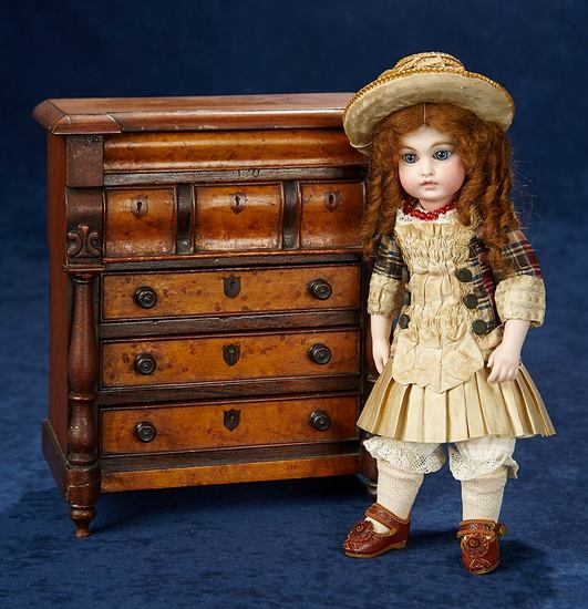 Superb Petite French Bisque Bebe by Leon Casimir Bru, Size 0 8500/11,000