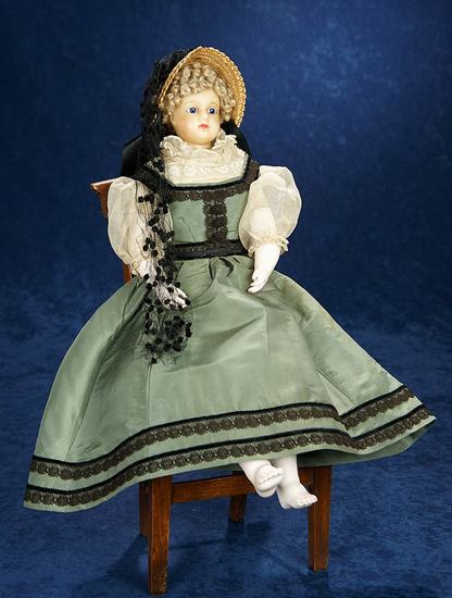 Exceptionally Rare Signed French Wax Poupee, Leontine Rohmer, Original Signed Body 3500/4500