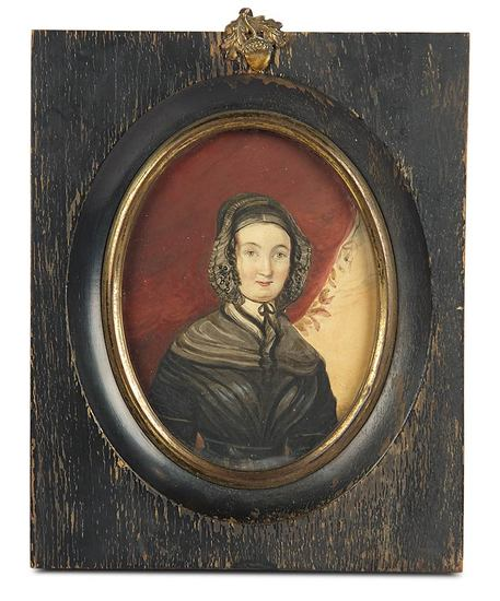 Portrait Painting of Esther Francis at Age 53 in Original Frame 600/800