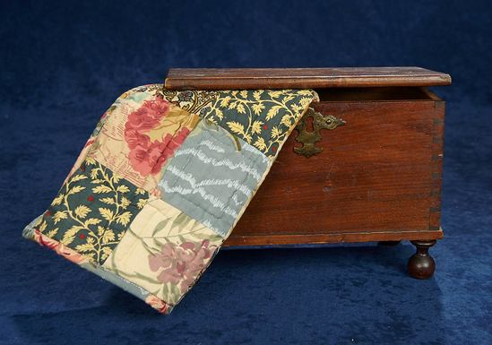 Early American Dove-Tailed Doll-Size Blanket Chest 600/800