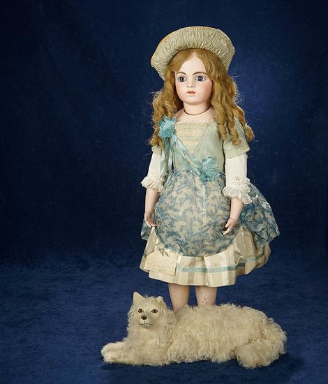 French Bisque Bebe by Leon Casimir Bru, Size 15, Early Costume and Provenance 18,000/23,000