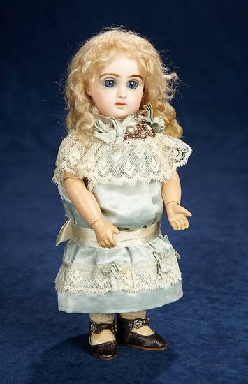 French Bisque Bebe, Size 1, by Emile Jumeau with Dramatic Large Eyes 3000/4000