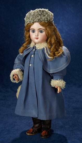 Rare French Bisque Bebe Francais by Jumeau with Wonderful Antique Costume 3500/4500