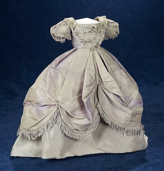 French Grey/Mauve Taffeta Gown from Maison Huret  800/1100