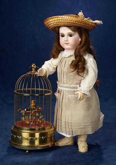 German Mechanical Singing Bird in Cage by Karl Griesbaum 500/700