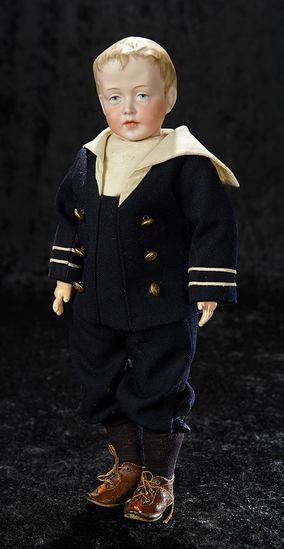 """German Bisque Art Character, 153, Simon and Halbig Known as """"Little Duke"""" 11,000/15,000"""