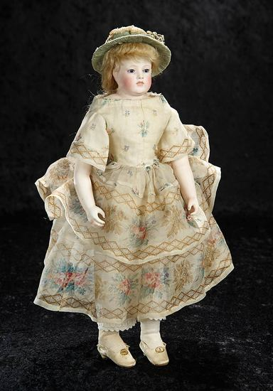 Extremely Rare French Bisque Poupee with Painted Teeth 11,000/16,000