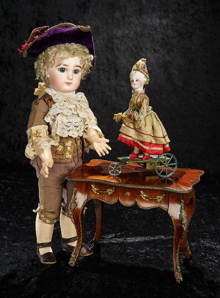 French Maitrise Marquetry Lady's Writing Desk in the 18th Century Manner 1200/1600