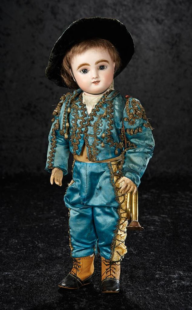 French Bisque Bebe, Rare Figure B, by Jules Steiner in Superb Costume 4000/5500