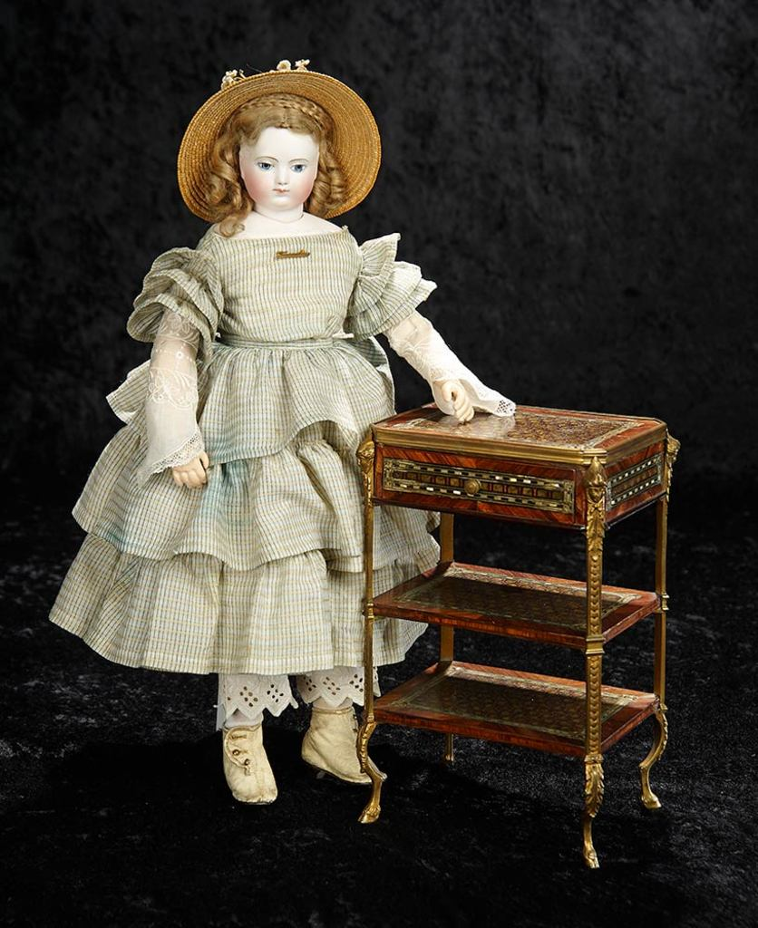Rare Early French Bisque Poupee with Original Signed Body by Adelaide Huret 19,000/24,000