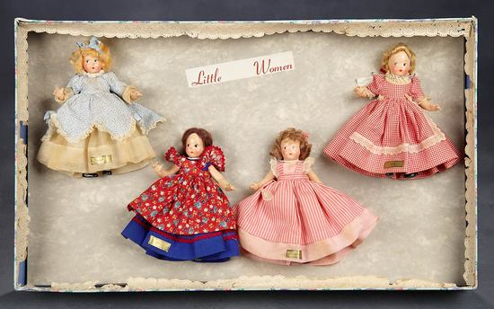 "Very Rare and All-Original Set of Tiny Betty as ""Little Women"" in Presentation Box 1200/2000"
