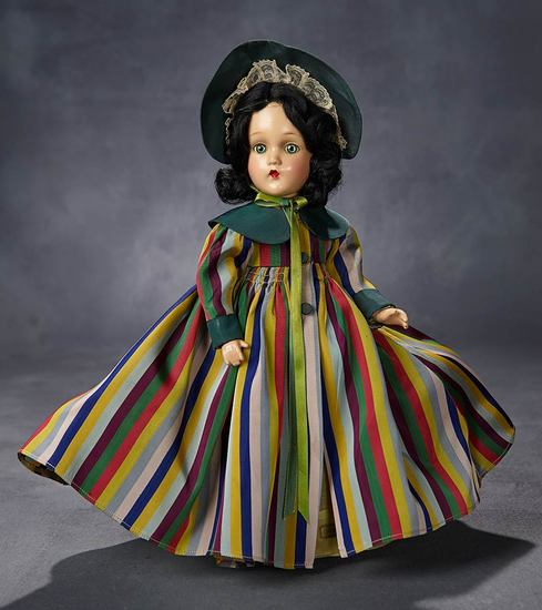 "Composition ""Scarlett O'Hara"" in Striped Taffeta Coat 500/700"