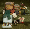 Collection of miniature antique accessories for French bebes or poupees. $500/800