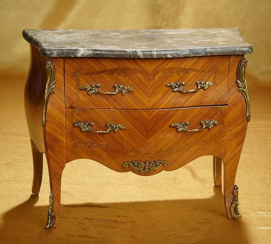 French Maitrise Model of Marble-Top Chest of Drawers 400/600