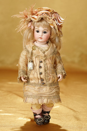 French Bisque Bebe by Leon Casimir Bru in Extremely Rare Size 0, Signed Bru Shoes 18,000/23,000