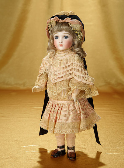 Outstanding and Rare French Bisque Bebe A.T. Andre Thuillier, Charming Petite Size 18,000/22,000