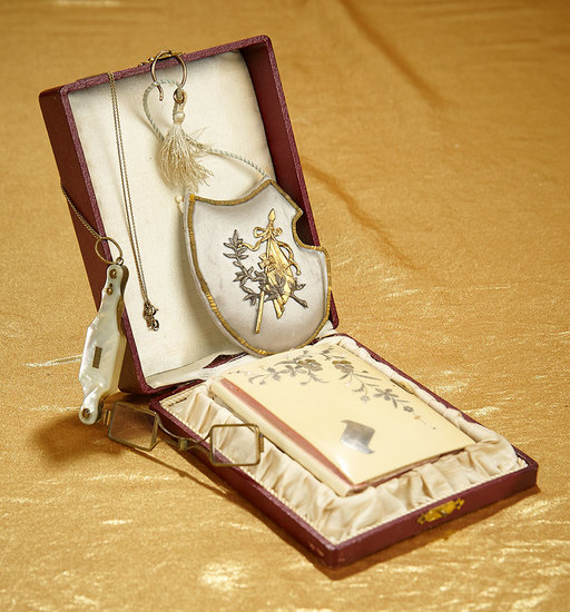 Two 19th Century Dance Cards and Mother-of-Pearl Lorgnette 300/500