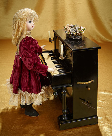 """French Musical Bon-Bon Automaton """"Little Girl at the Piano"""" by Vichy  6500/8500"""