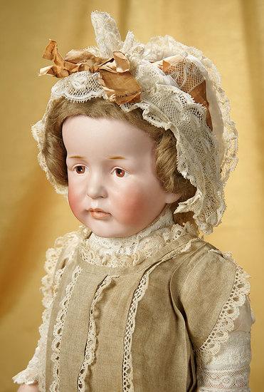 "Rare German Bisque Painted Eye Art Character, ""Willie Pearl's Doll"", 208 by Kestner 25,000/35,000"