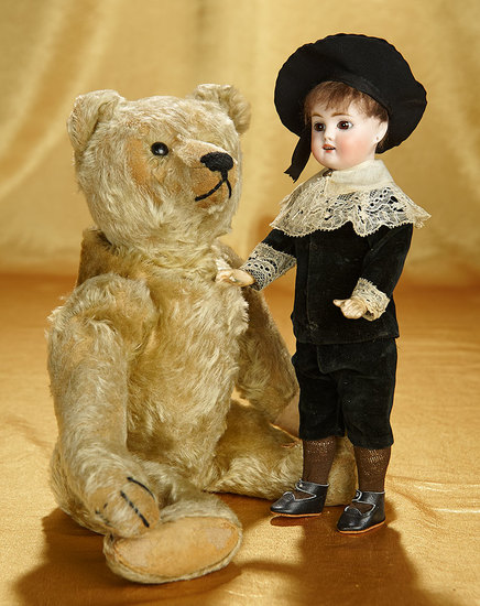 Early German Mohair Teddy by Steiff with Button in Ear 300/500